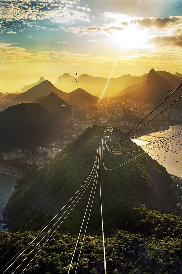 view from the (almost) top. sugarloaf mountain (rio de janeiro)