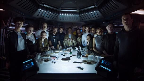 Alien: Covenant Cast Photo Features James Franco  A photo featuring the cast of Alien: Covenant has been released ahead of an upcoming sneak peek that will air tomorrow February 22 on FX.  20th Century Fox shared the photo in a post on Twitter which provides an early look at James Franco as Captain Branson. Accompanying the photo was tease for the aforementioned sneak peek which will be shown during tomorrow night's episode of Legion.  Alien: Covenant cast photo via Alien Covenant on Twitter…