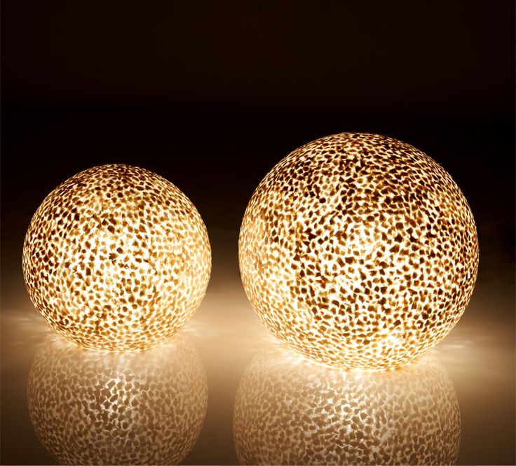 Beautiful Capiz Globe Lamps for Table or Floor by Collectiviste on Etsy