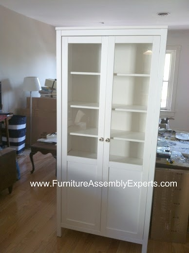 ikea hemnes cabinet with doors assembled in catonsville md by Furniture assembly experts LLC