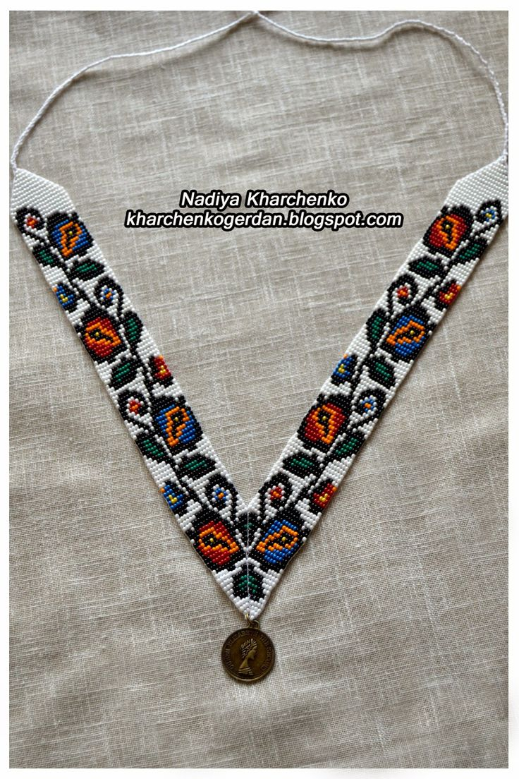 мужской галстук бисер схема ткачество