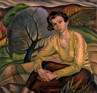 Girl in a Yellow Sweater: Prudence Heward (1896-1947), Canadian artist.  This is at the National Gallery of Canada also, and is a stunning painting.