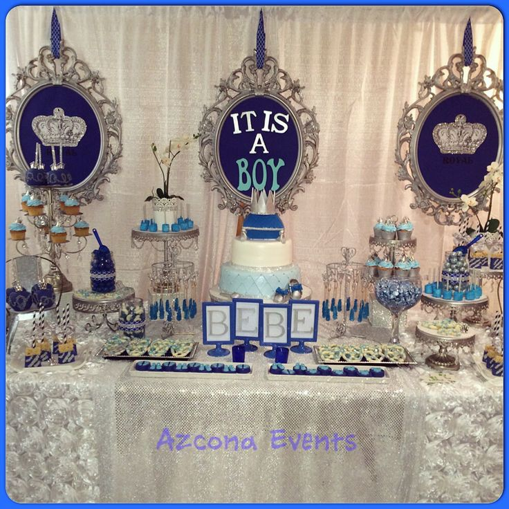 royal prince theme babyshower table festa principe