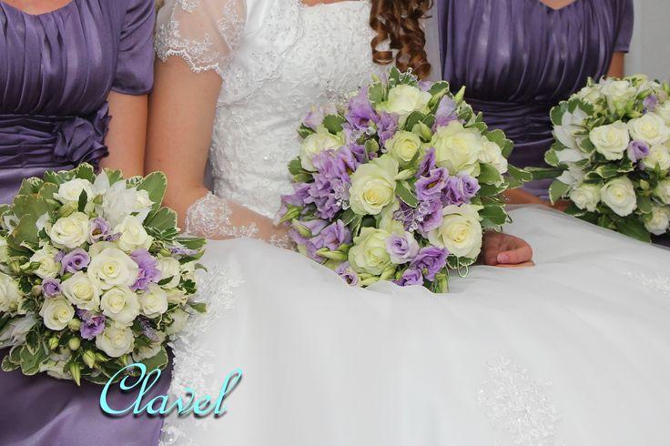 bridal bouquet, lavender wedding