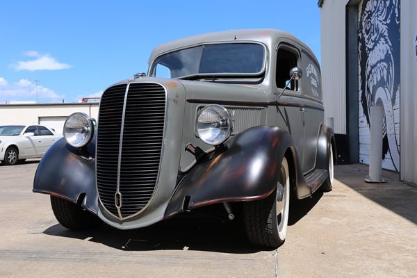 Gas monkey garage 1937 ford panel delivery van exterior for Garage ford belley 01