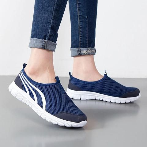 Shoes woman 2018 fashion hot light breathable mesh summer women shoes  casual ladies shoes tenis feminino women sneakers-Touchy Style-Dark  Blue-11- ... 0d1cd935a651