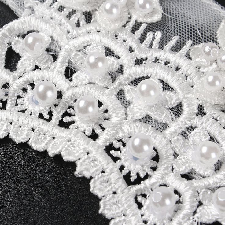 Bride Diamond Pearl Bead Flower Lace Shoulder Chain Bridal Wedding Dress Accessories