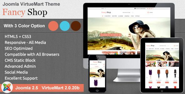 Fancy Shop VirtueMart Theme is dedicated for fashion, jewelry, apparel, kids and clothes stores. With some free extensions and customization fancy shop virtueMart theme is dedicated for all fashion, jewelry, apparel, kids and clothes stores.