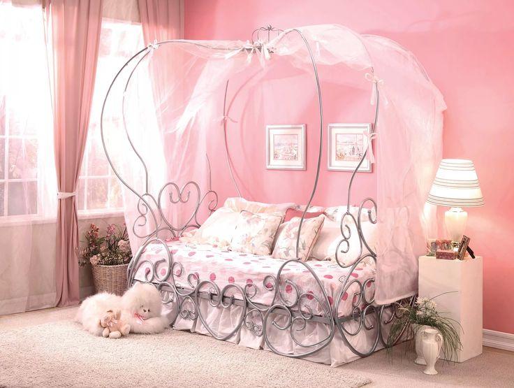 Priya Silver Twin Canopy Bed 37190T