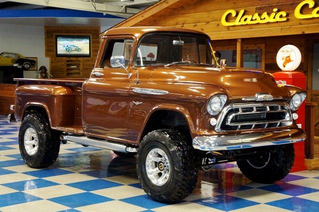 57 Chevrolet 3200 Lifted Pickup - Rootbeer Metallic
