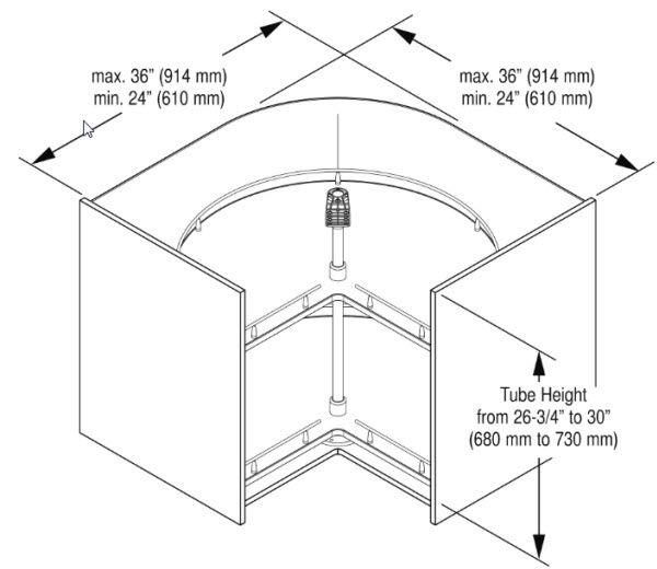 recorner lazy susan cabinet dimensions kitchen black and white rl. Black Bedroom Furniture Sets. Home Design Ideas