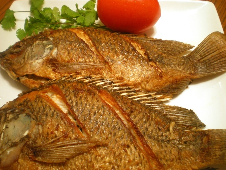 Fried Tilapia  Great with soy/Kalimansi(lime) dip sauce