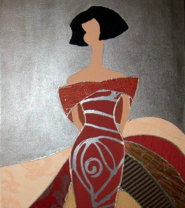 Varios. Menina 2 tela y pintura. | Petry Manualidades