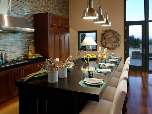 Eat-In Kitchen. Love this over-sized custom island. Gorgeous! http://www.hgtv.com/kitchens/beautiful-hgtv-dream-home-kitchens/pictures/index.html?soc=pinterest