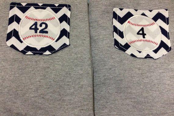 Custom Baseball Pocket Tee- Chevron Pocket- Number or Name