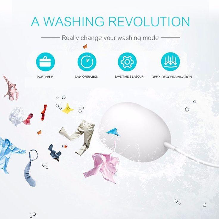 Portable Mini ultrasónica lavadora automática bebé lavandería viajes dolfi mini maquina de lavar roupa
