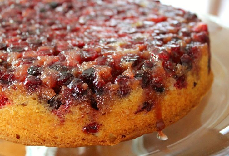 Cranberry Upside Down Cake is gorgeous, delicious and easy to prepare. Super festive for any holiday or family gathering.