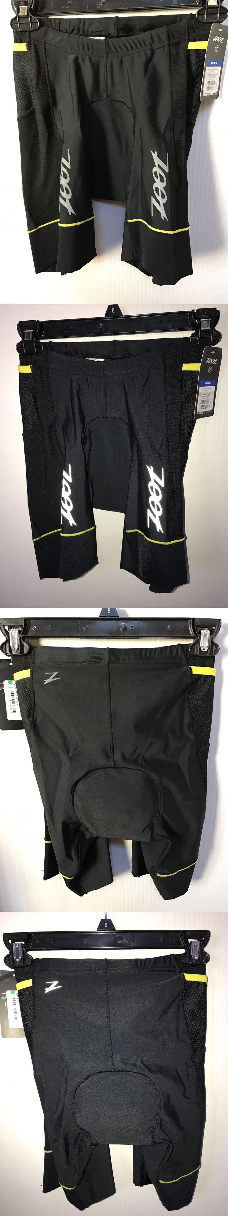 Triathlon 2918: Zoot Performance 8 Mens Tri Triathlon Shorts Black/Yellow Size Small New $80 BUY IT NOW ONLY: $34.95