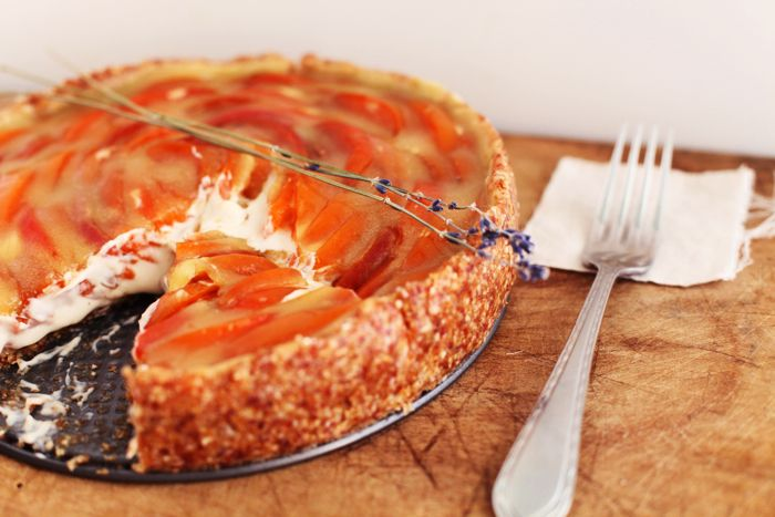 Lavender Apricot Tart