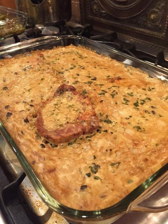 Mama's Pork Chop and Rice casserole