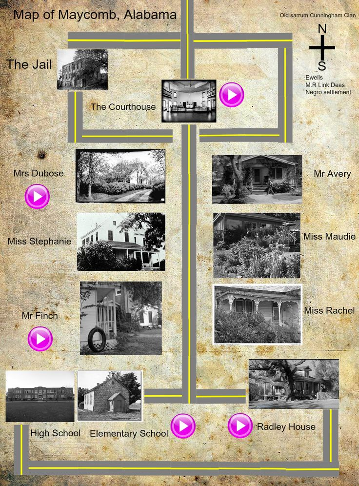 To Kill A Mockingbird Map Of Maycomb Pictures | To Kill A ...