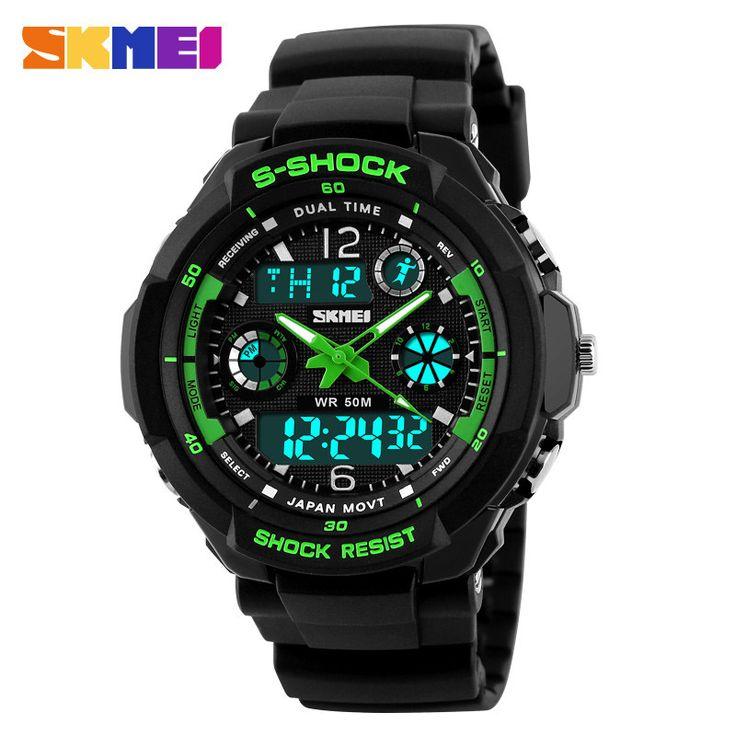 2016 New S Shock Men Sports Watches Skmei Quality Brand Digital Analog Alarm Military Watch Relogio Masculino Digital-Watch