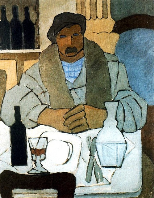 Barradas, Rafael (1890-1929) - 1922 Man in a Tavern (National Museum of Visual Arts, Montevideo, Uruguay) by RasMarley, via Flickr