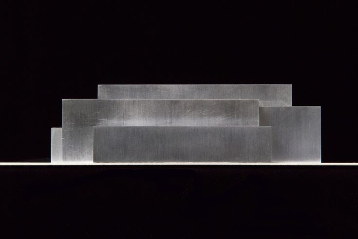Concrete model of the Anchorage Museum at Rasmuson Center in Alaska by David Chipperfield Architects.