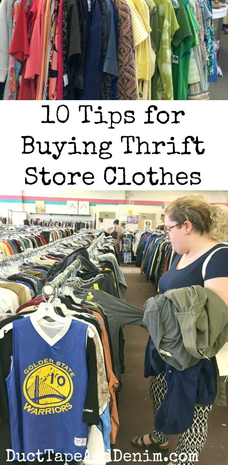 d9dab4f2c40 10 tips for buying thrift store clothes. More thrifting tips on  DuctTapeAndDenim.com  thrifting  thriftstoreshopping  thriftstoreclothes   usedclothes ...