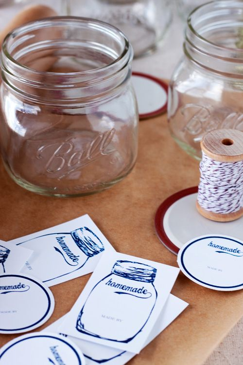 Canning jar labels...love it...free download, print on cardstock and cut out!