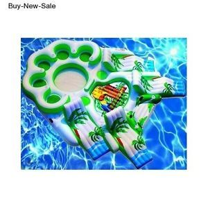Inflatable Giant Havasu Party Island Float Raft. Large 4 recliners, 5 Chair. 10 Person Cap. NEW, Enjoy the Water At River,Havasu,Pool,Lake,Beach. Lounge in the Sun on Your New Inflatable Private Floating Island After a swim,Jet Ski,Water Skiing,Swimming.Tubes Are Out. You Have 4 Loungers,5 Seats, 2-foot pools for feet or Baby. River Run Toy. Supplies hours of fun. Keep your 6 pack cold in 2 built in coolers…