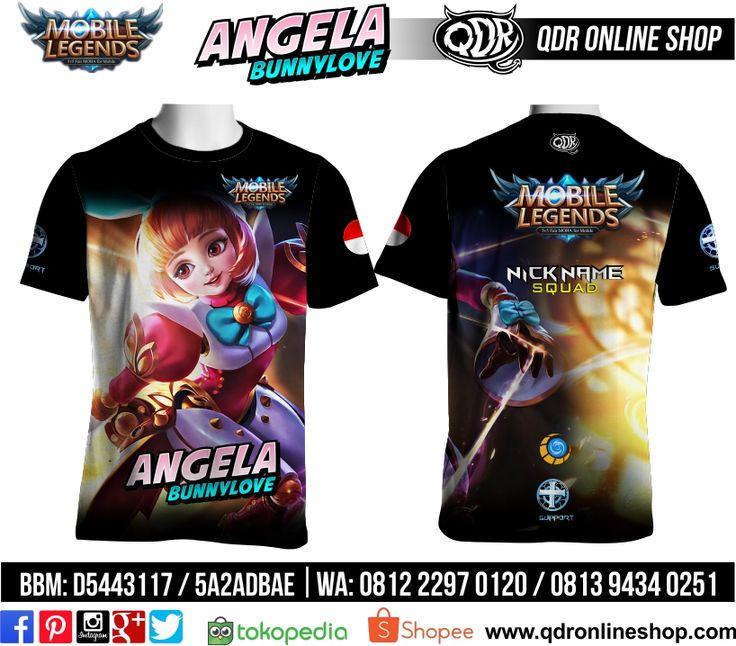 T-Shirt Mobile Legends Angela Skin Bunnylove untuk pemesanan: BBM D5443117 / 5A2ADBAE (Qdr online shop) WA/LINE 081222970120 / 08129434025 www.qdronlineshop.com