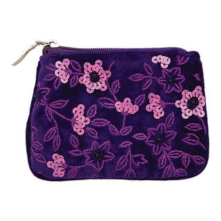 Beautifully hand embroidered and hand sequinned coin purse