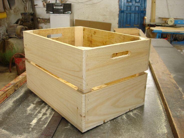caja de madera fruta modelo f