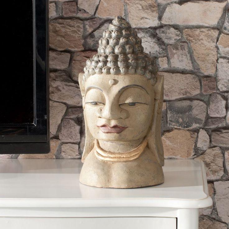 Dekoracja Głowa Buddy 19x19x45cm, 19x19x45cm - Dekoria #dekoracje #decoration #dom #home #salon #idea #inspiration #inspiracje