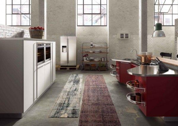 wine colored kitchen Sanidero