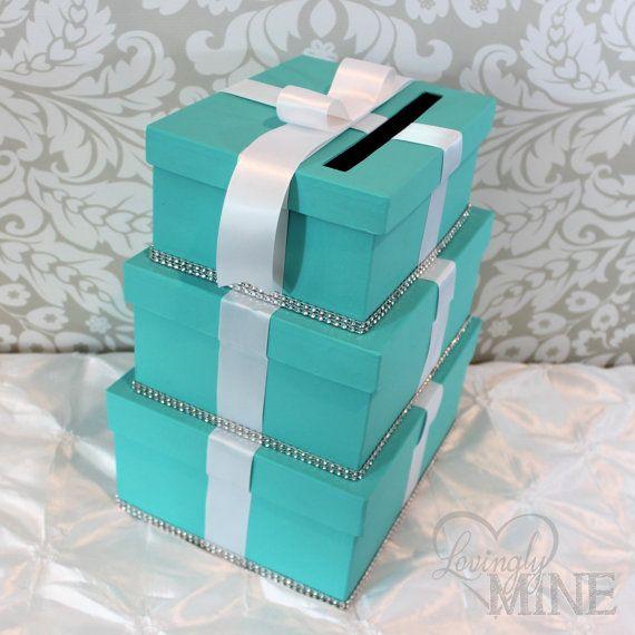 Card Holder  Tiffany & Co Inspired 3 Tier Box  by LovinglyMine, $38.00