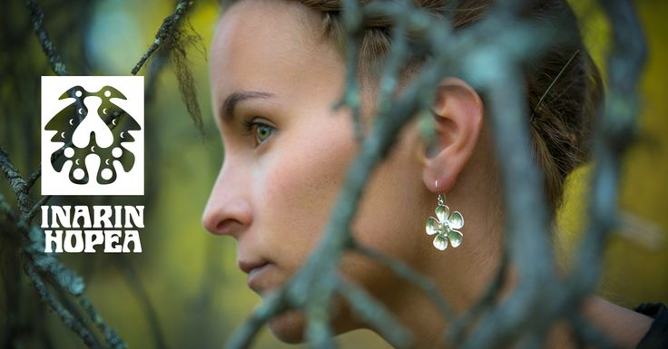 #korvakorut, #earrings, #Ohrringe, #Boucles d'oreilles, #СЕРЬГИ    Lapin koruja, hopeasepänliike Inarin Hopea. Jewellery from Lapland, Inari, Finland. Silver jewellery #inarinhopea, #inari, #lappi, #lapland, #jewellery  www.inarinhopea.fi http://en.inarinhopea.fi/category/4/earrings
