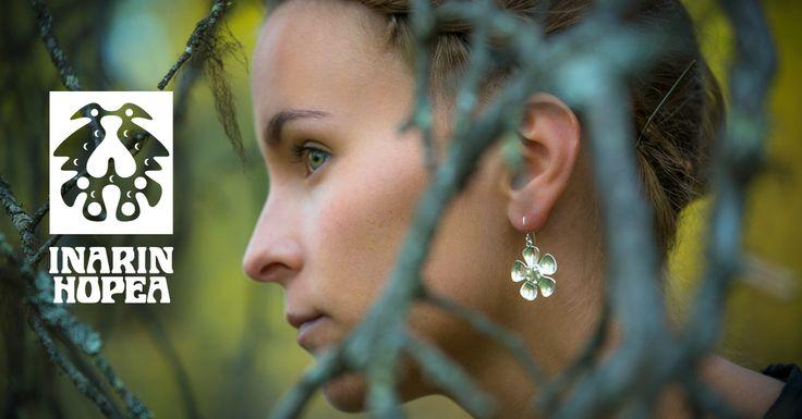 #korvakorut, #earrings, #Ohrringe, #Boucles d'oreilles, #СЕРЬГИ    Lapin koruja, hopeasepänliike Inarin Hopea. Jewellery from Lapland, Inari, Finland. Silver jewellery #inarinhopea, #inari, #lappi, #lapland, #jewellery  www.inarinhopea.fi http://en.inarinhopea.fi/category/4/earrings