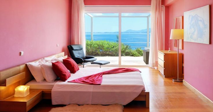 "Discover Villa ""Rossa"", Corfu, Greece ! You can rent it ! #luxury #villa #rent #holidays #greece #vacances #grece #alouer #aroomwithaview #sea #bedroom #decoration #swimmingpool #beautiful #sunset #luxuryvilla"
