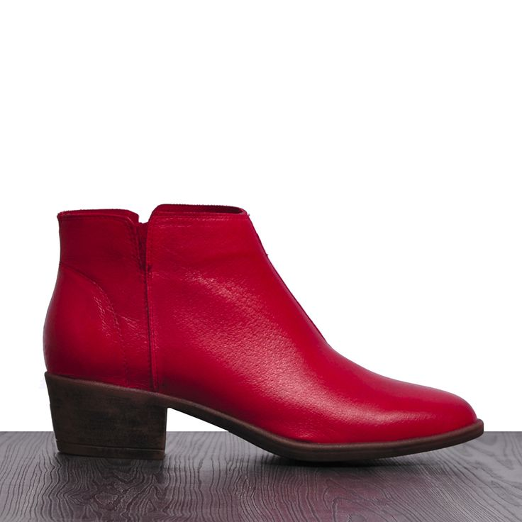 Alisons by I Love Billy #ankleboot #ankleboots #leather #cinori #ilovebilly #red