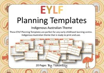 Early Years Learning Framework Planners Indigenous theme
