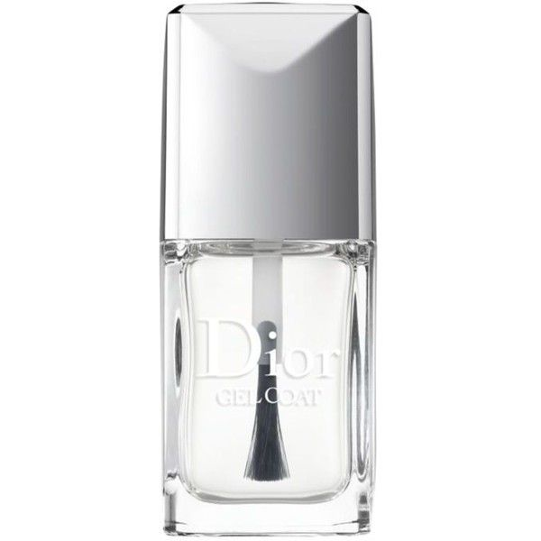 Dior Clear Gel Coat ($27) ❤ liked on Polyvore featuring beauty products, nail care, nail polish, makeup, nail, clear, filler, gel nail color, gel nail care and christian dior nail polish