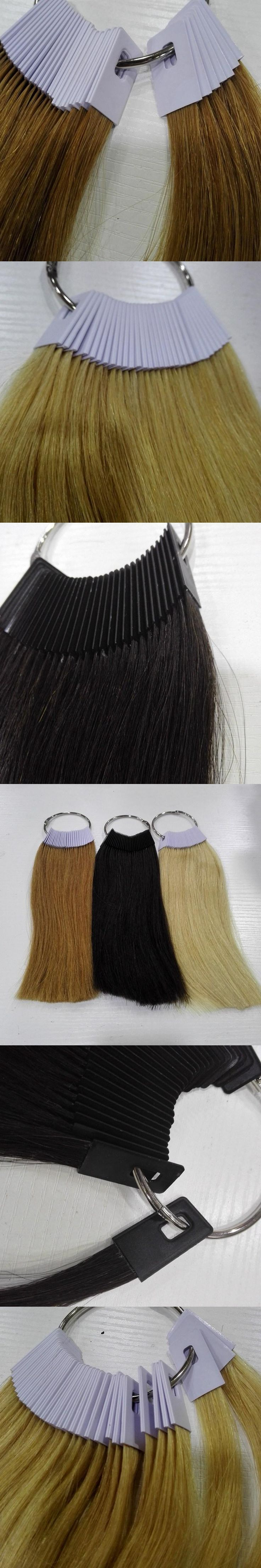 6inch human hair color ring for salon hair  color chart  three color /lot