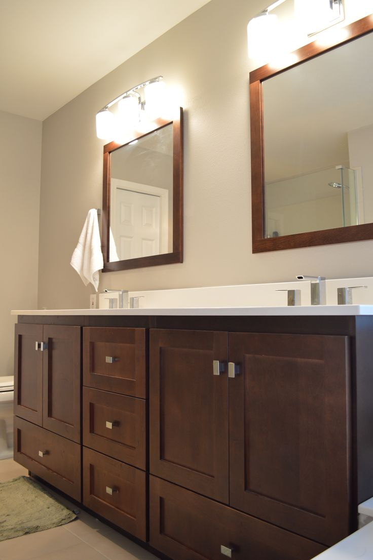 60  Bathroom vanity from our Mountlake Collection with shaker drawers and  matching mirrors and lighting. 23 best Smart and Elegant Vanities by Strasser images on Pinterest