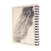 The Art Department Visual Diary Map Of NZ A5