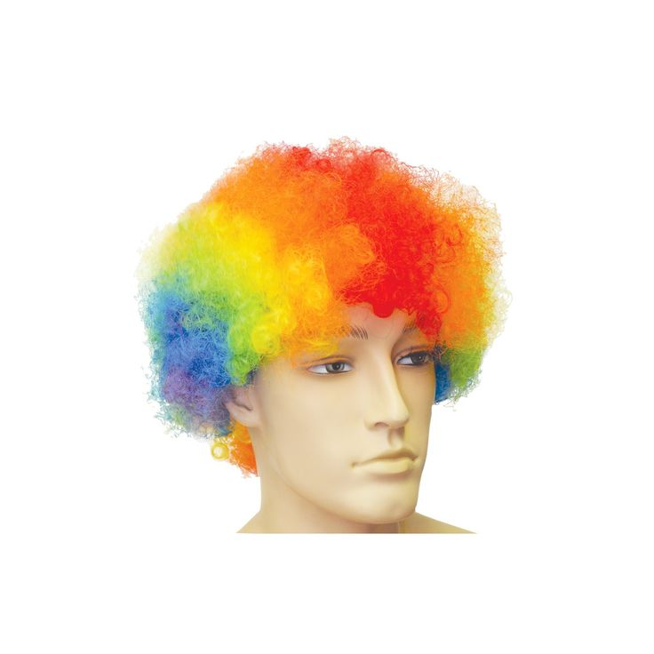 Halloween Afro Rainbow Costume Wig, Adult Unisex, Multicolor Rainbow
