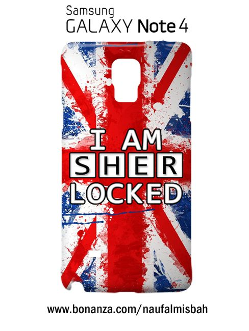 Union Jack Sherlock Samsung Galaxy Note 4 Case Cover Wrap Around