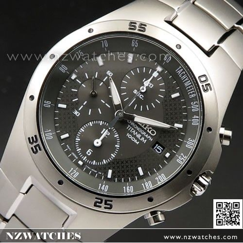 Seiko titanium watch 100m Chronograph watches SND451P1