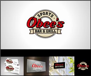 Obee's Sports Bar and Grill Logo Design -Signs -Business Cards -Logo  High Six Designs